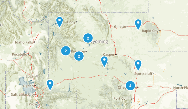 Wyoming State Parks Map