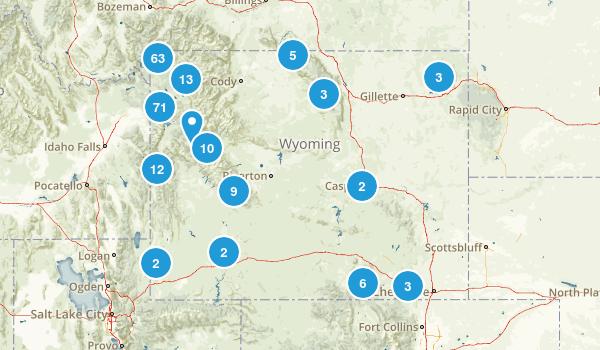 Wyoming Trail Running Map