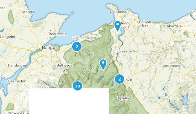 Conwy, Wales Hiking Map