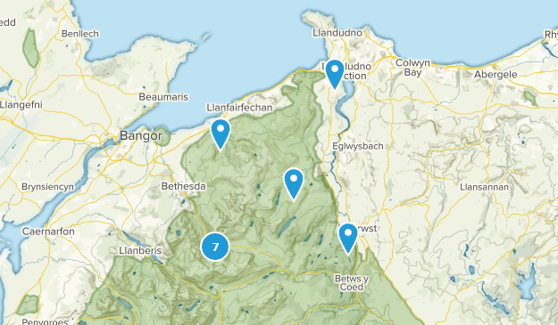 Conwy, Wales Nature Trips Map