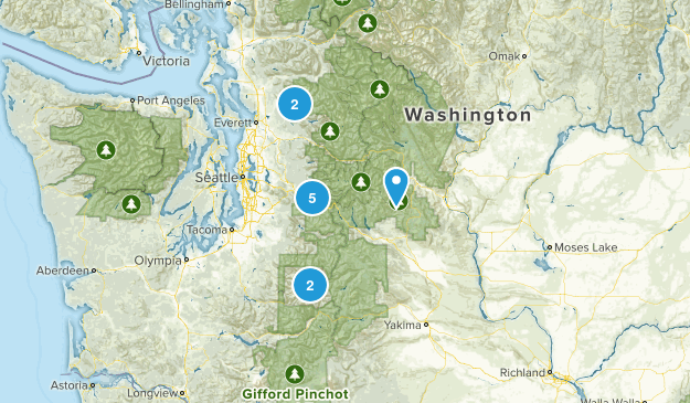Seattle Hikes Map