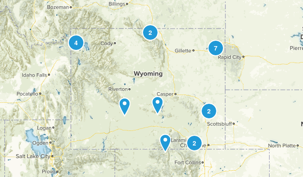 Wyoming trails Map
