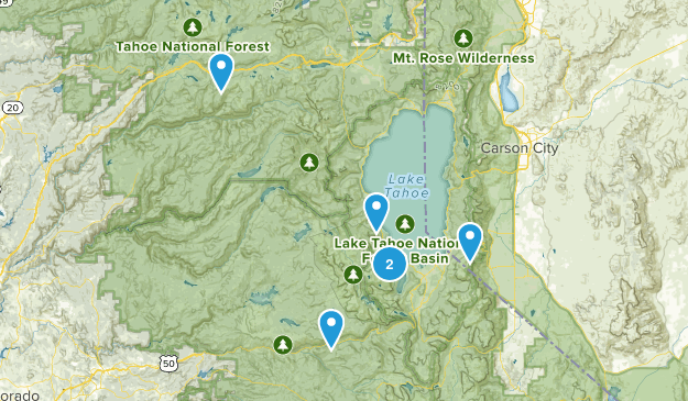 Tahoe Hikes Map