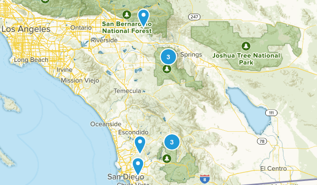 San Diego Hikes Map