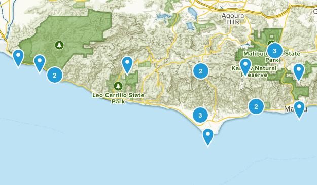 Malibu Hikes Map