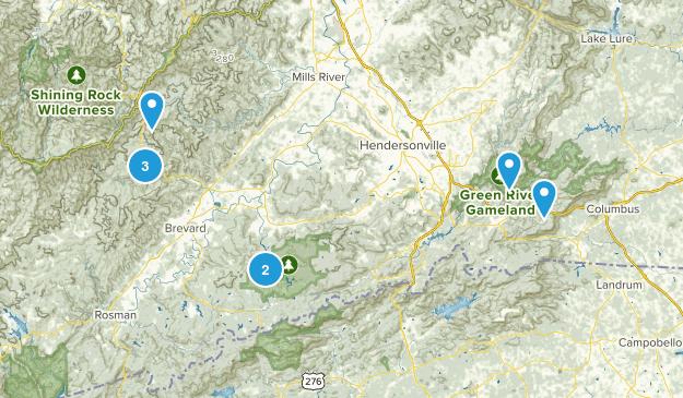 Saluda Brevard Area Map