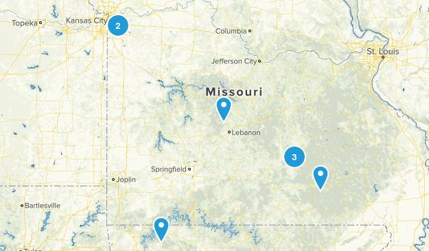 Missouri Hikes Map