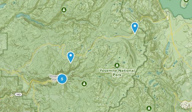 Best Yosemite Hikes Map