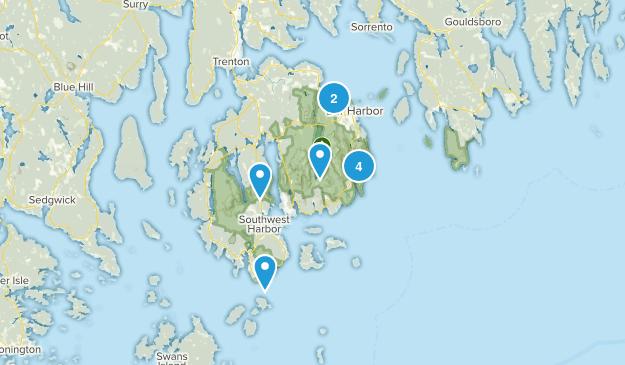 Near Acadia Map