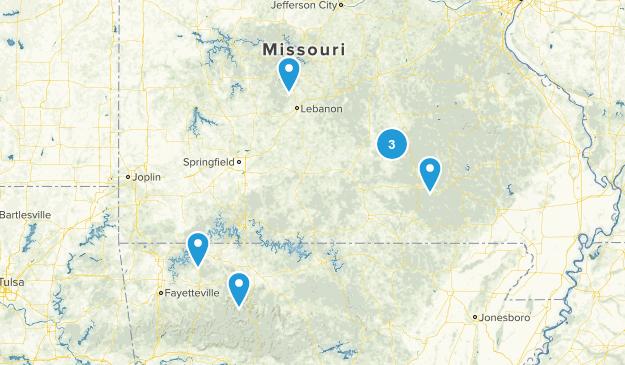 trails near ozarks Map