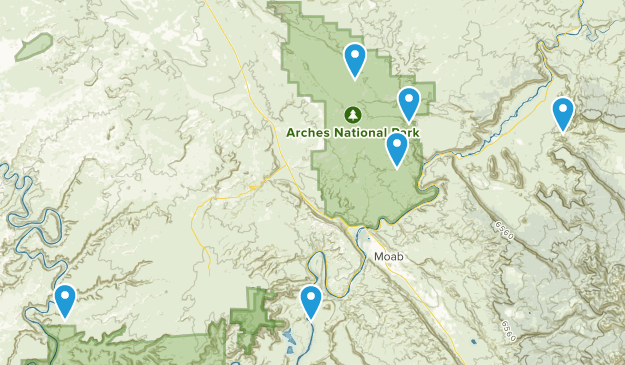 Moab Area Trailrunning Map