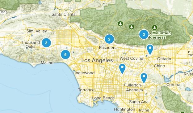 mtb trail LA Map