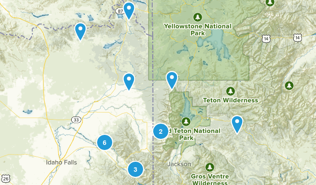 Idaho trails wish list Map