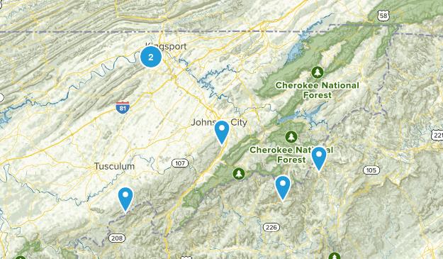 Johnson City, TN Map