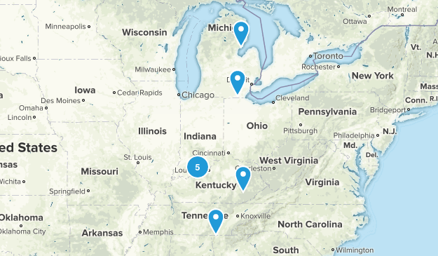 2014 Hikes Map