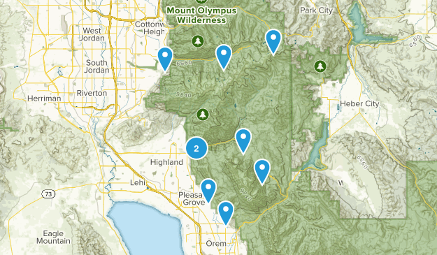 Hikes for Summer Map