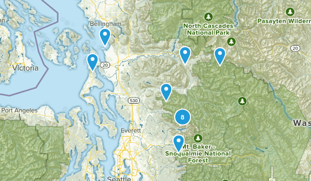 Hikes w Dylan Map