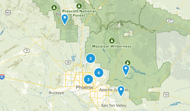AZ Hikes Map