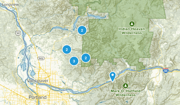 Possible camping spots in SW Washington Map