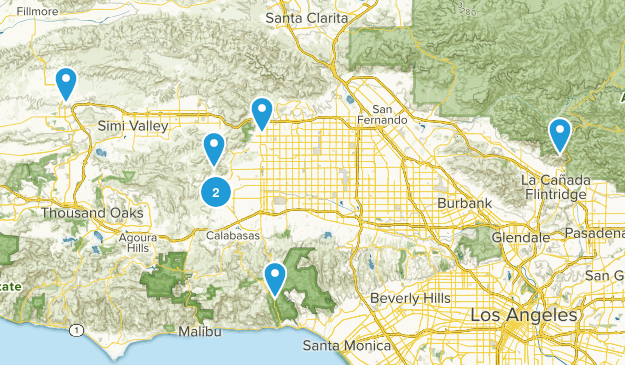 San Fernando Valley Trails Map