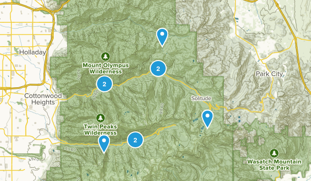 Peck Family Reunion 2014 - Snowbird Map