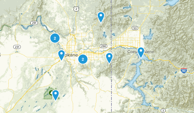 Spokane Trails Map