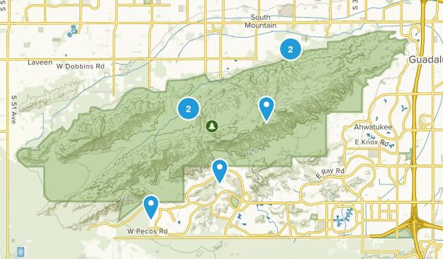 south mountain area Map
