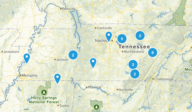 Tennessee Day Hikes Map