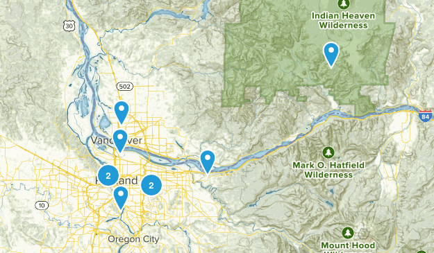 Easy Hikes Map