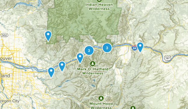 columbia river gorge Map