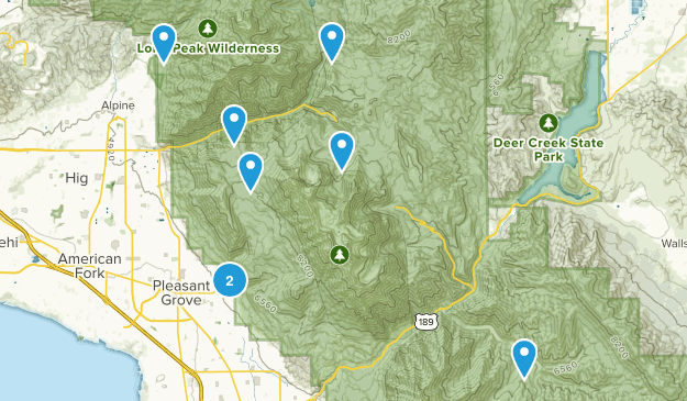 easy close hikes Map