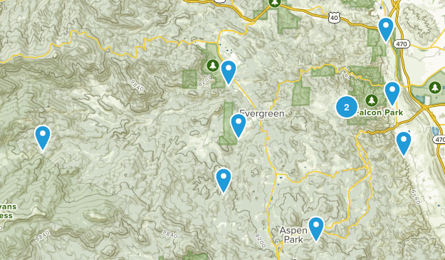 Evergreen Hikes Map