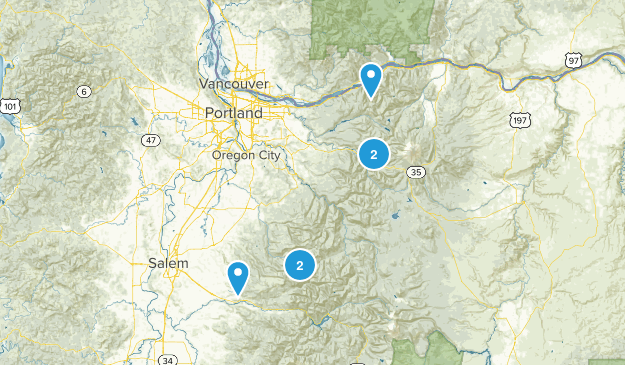 East of Portland Map