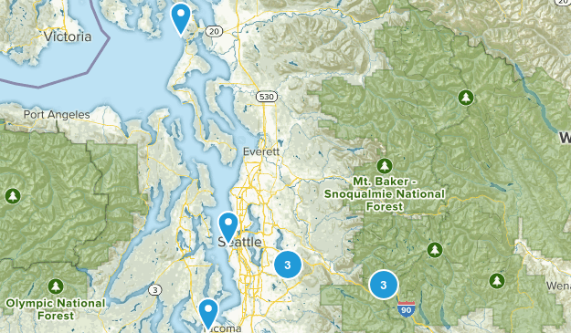SeattleDayHikes Map