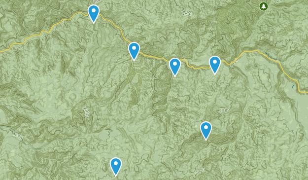 day hikes nearby Map