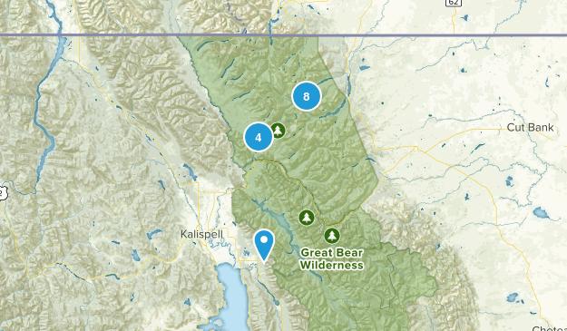 Glacier Natl Park Map