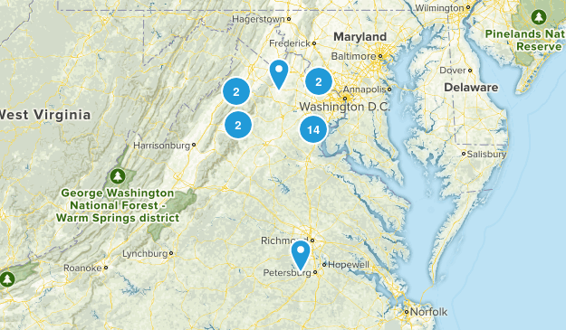 VA Trails Map