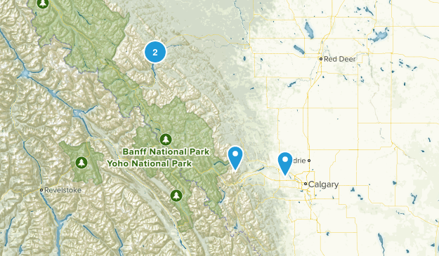 Alberta Hikes To Do Map