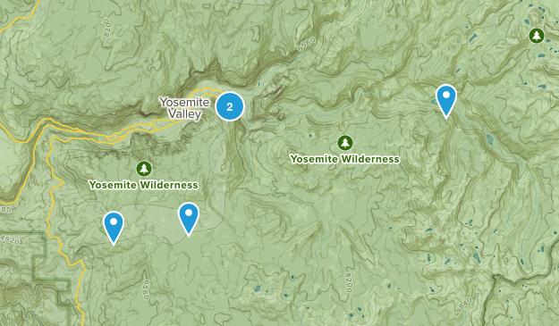 Yosemite trip Map