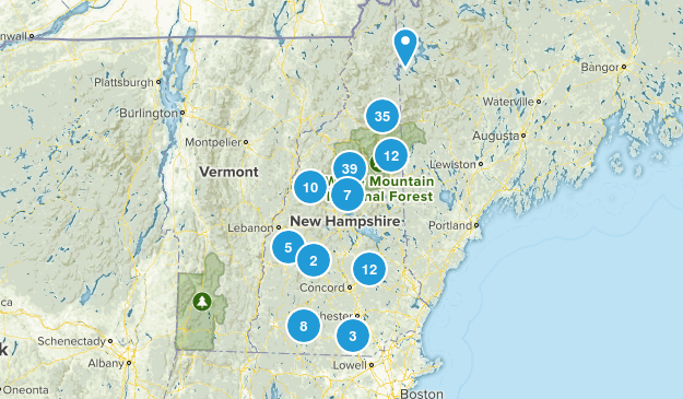 NH Hikes Map