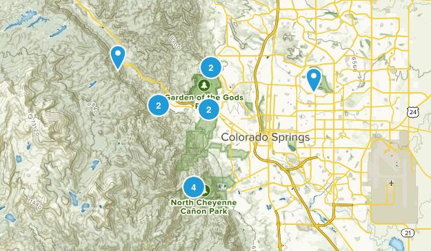 Colorado Springs Hikes Map