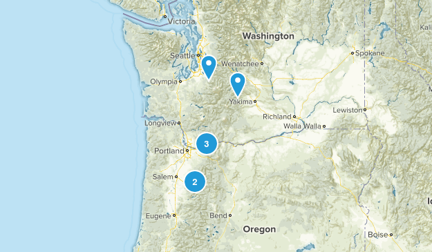 Places to hike  Map