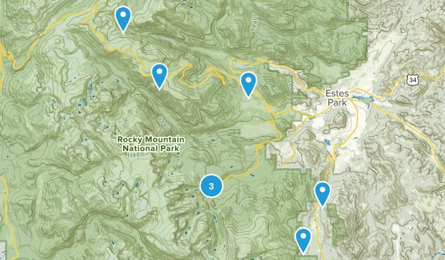 Rocky Mtn National Park Map