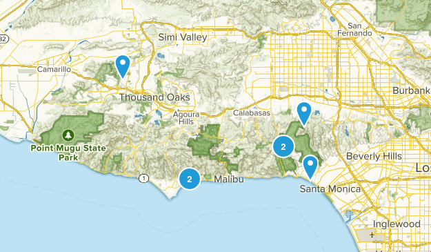 Half day hikes Map