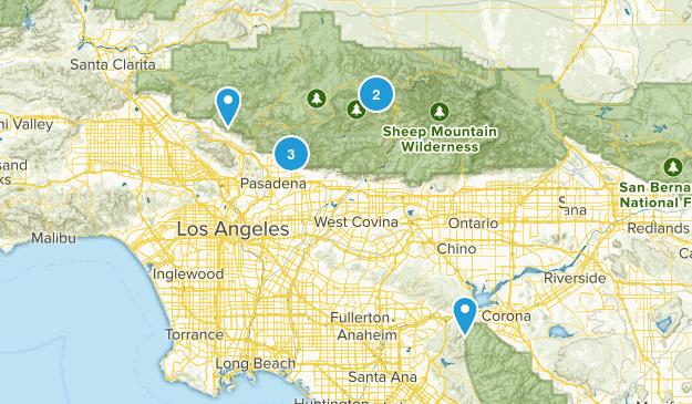 Backpacking Around LA Map