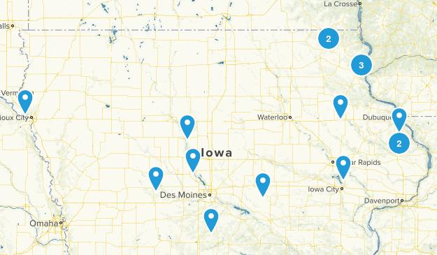 Iowa Hikes Map