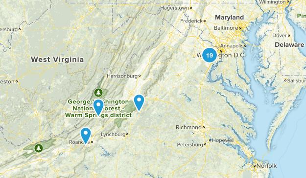VA Hiking Map