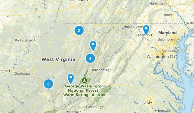 WV Hiking Map