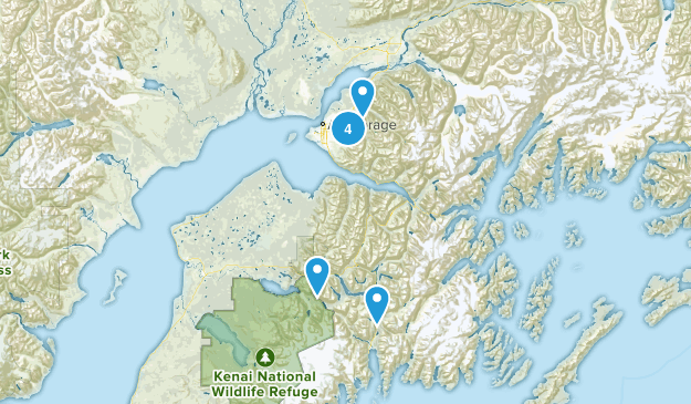 winter hikes Map