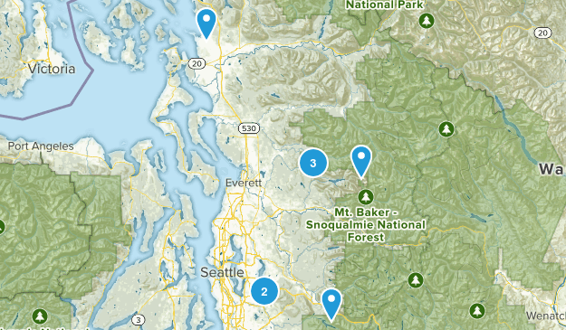 Hikes in 2016 Map